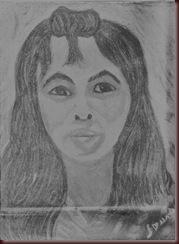 essai de portrait en pastel gras